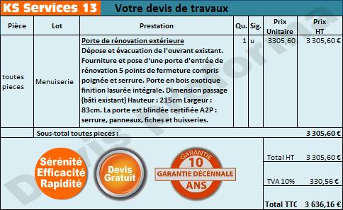 Ks Services 13 Prix Devis Porte De