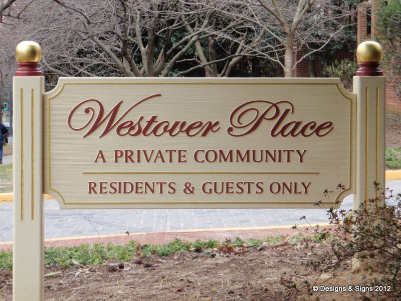 sandblasted signs - westover place
