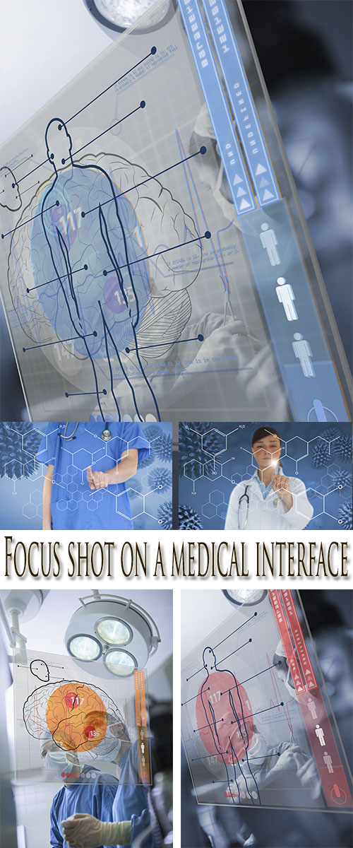 Stock Photo: Focus shot on a medical interface