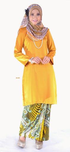Mini Kurung Kuning Mustard Fesyen Raya terkini 2014