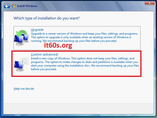 Thủ thuật khắc phục lỗi 0x80070057 khi cài Windows 7 6