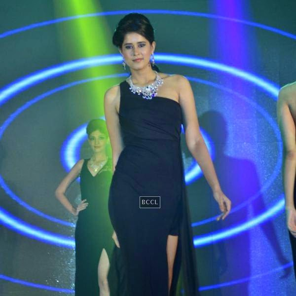 A model walks at the ramp during the launch of Leading Jewellers of the world presents Ticket to Bollywood by Gitanjali Gems Pvt Ltd in Mumbai. (Pic: Viral Bhayani)