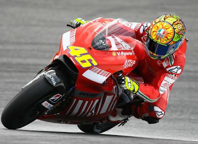 Valentino Rossi with Ducati MotoGP