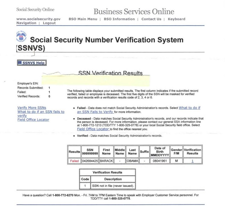 How much information does our Social Security number's provide about us?