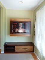 48″ x 40″ x 10″ Custom Wall Unit in Vintage and Chocolate Cherry