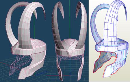 Loki Helmet Papercraft