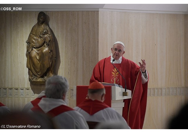 Pope Francis delivering his homily at Mass - OSS_ROM