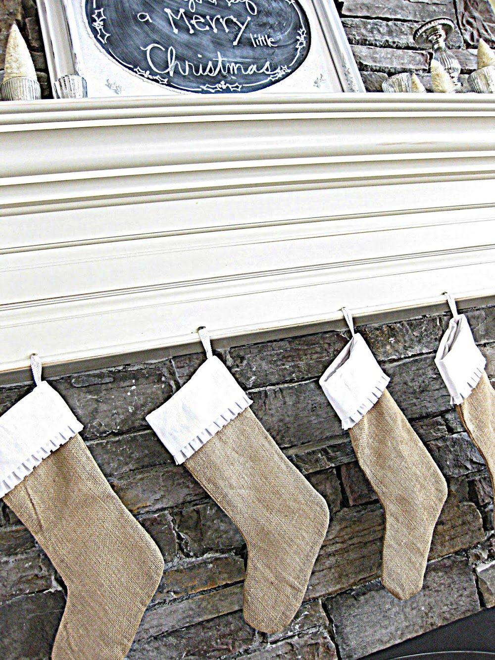 new pleated burlap stockings