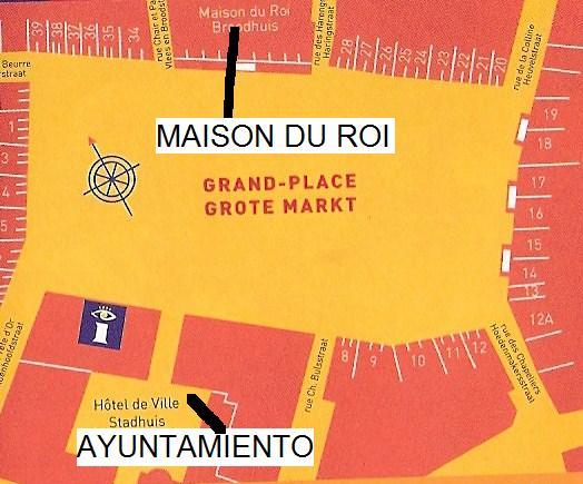 Gran Plaza de Bruselas plano