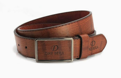 Men Leather Belt Fashion Belt Strap Brushed Buckle For