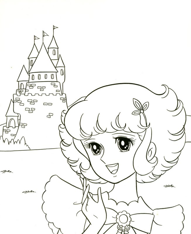 The Blooming 7-Color Flowers in the Old Castle coloring pages