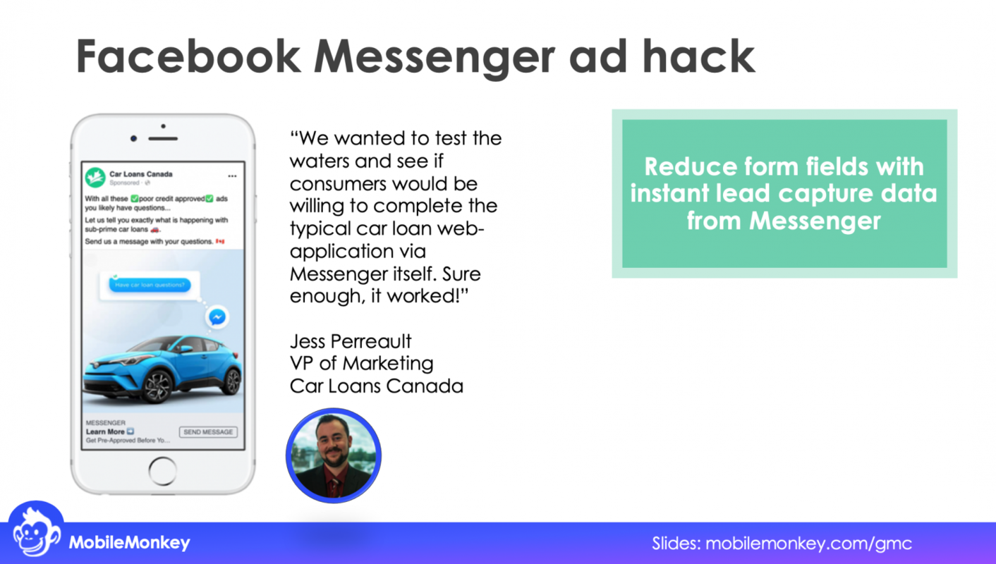growth hacking Facebook Messenger ads