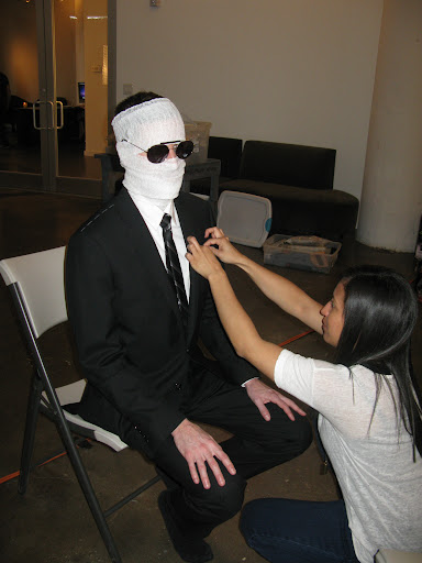 The Vanishing Man getting all dolled up.
