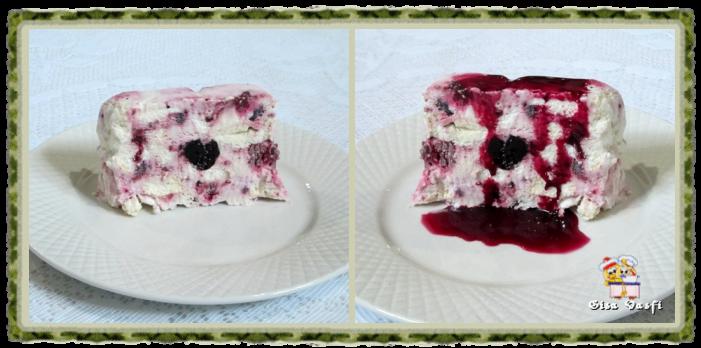 Sorvete de merengue com frutas vermelhas 3