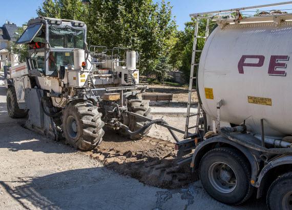 Impermeabilización y sellado de un tramo de la Senda de las Merinas en Pozuelo