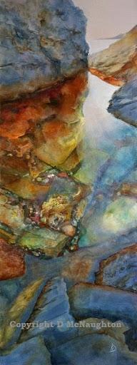 Rock Pool #2. Acrylic. Artist Dianne McNaughton
