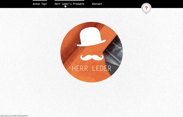 *來體驗鬍鬚紳士的滑動魅力吧!:HERR LEDER Web Site 2