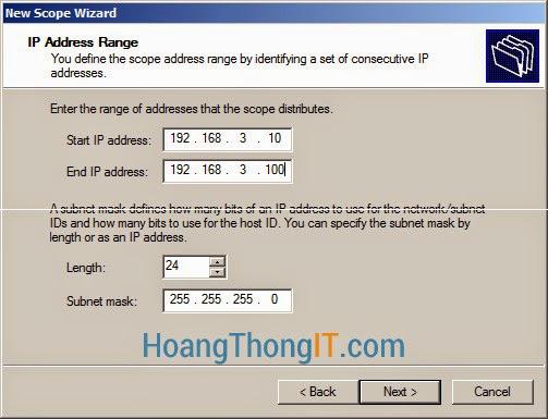 Cấu hình DHCP