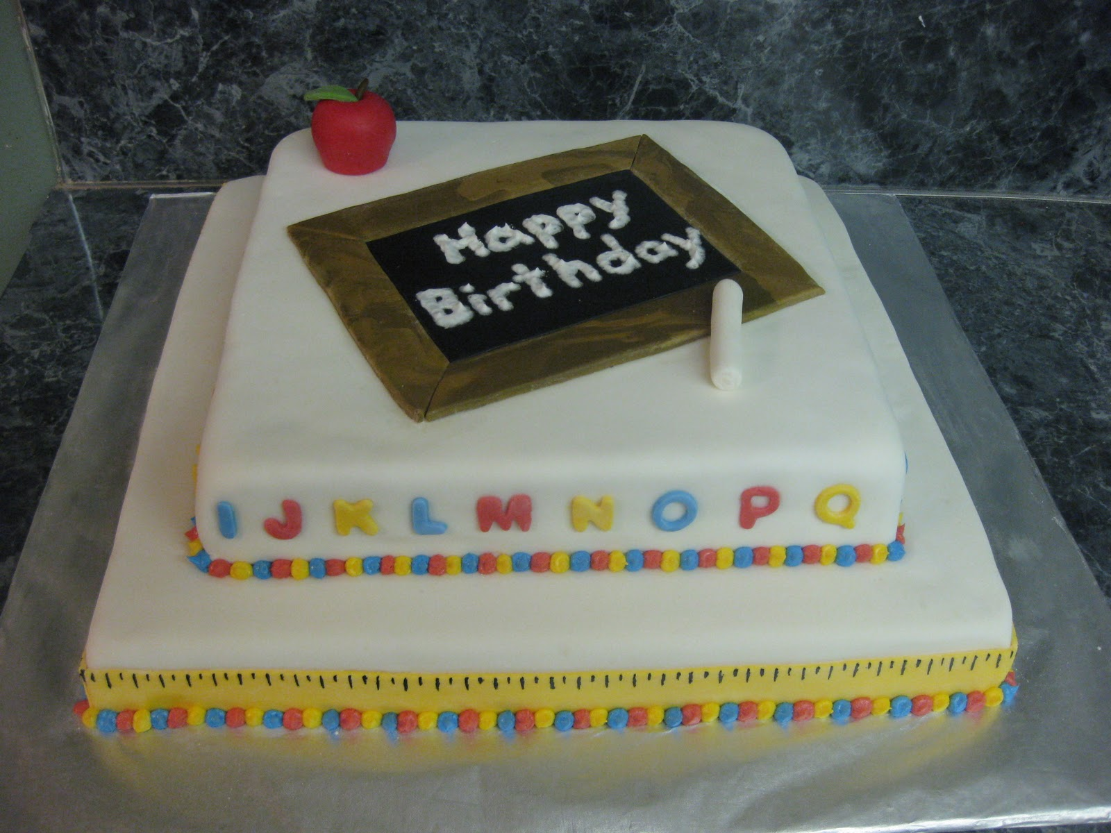 Cakes by Janelle: Teacher Birthday cake