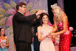 President Steve Coble with Paxton Webster crowning Miss Tori Mathew