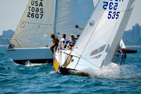 J/24s racing Verve Cup off Chicago