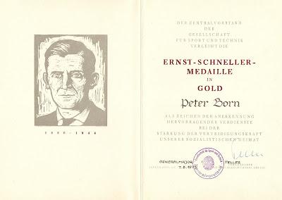 VII 006 Ernst-Schneller-Medaille in Gold