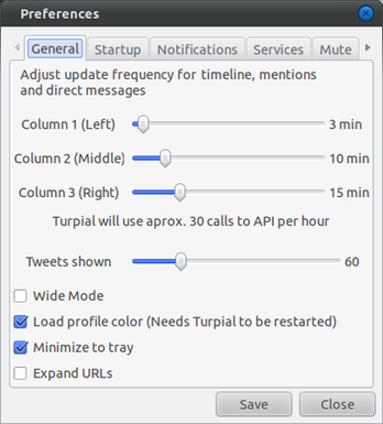 Turpial : Microbloging Client for Twitter and Identi.ca-Preferences_general