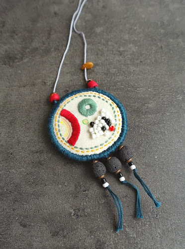 Fabric Pendant by Percee