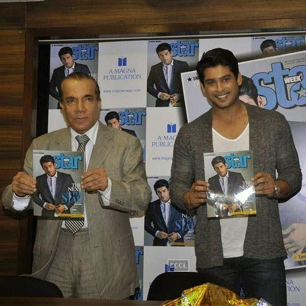 Nari Hira and Siddharth Shukla launch Star Week magazine's latest issue in Mumbai, on July 31, 2014.(Pic: Viral Bhayani)
