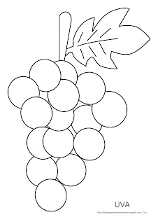 Dibujo de la uva para imprimir, colorear y pintar