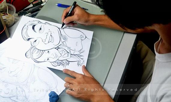 Wedding Gift For Malay Couple : ... Artist Malaysia Triton Lim: Wedding Gift Caricature for Melaka couple