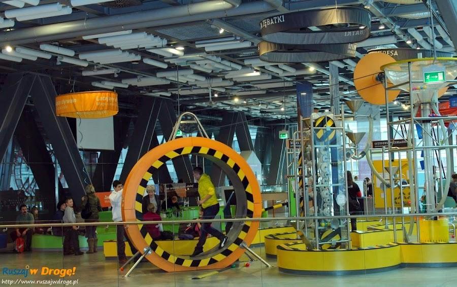 centrum nauki kopernik - kołowrotek