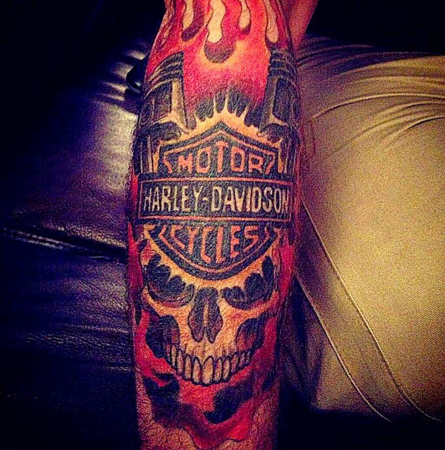 Harley Davidson tattoo  Best tattoo design ideas