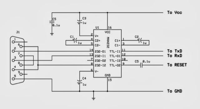 thd arduino projekte  max232n programmer f u00fcr arduino