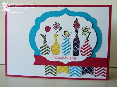 stampin up, inkspire_me #137, vivid vases, wishes your way, labels collection, fähnchenstanze