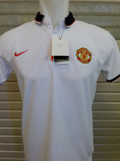Jual Polo Manchester United Putih  2014-2015