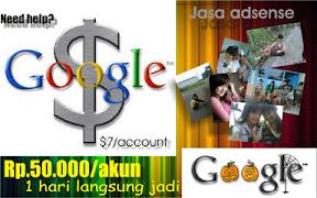 jasa pembuatan akun google adsense termurah dan tercepat