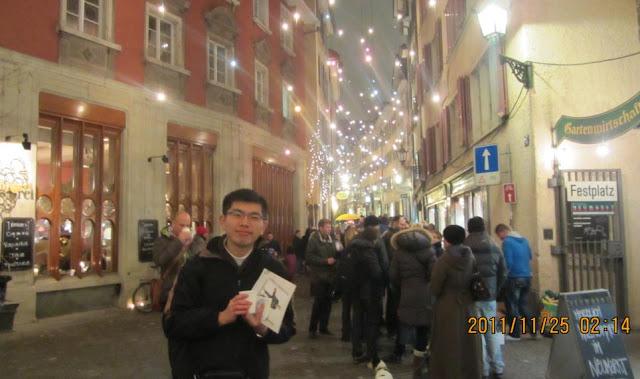 我在瑞士蘇黎世Zurich聖誕點燈盛宴現場!