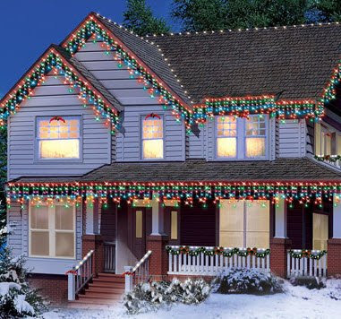 Multi-color 300-count Icicle Indoor Outdoor Christmas Lights