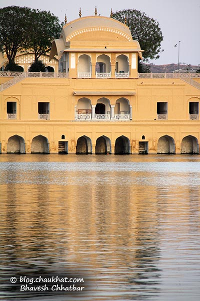 Close-up of the Jal Mahal of Jaipur