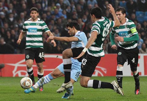 Sergio Aguero, Manchester City - Sporting Lisbon