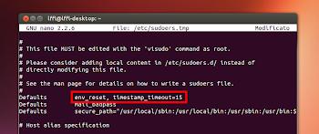 configurazione Sudo in Ubuntu Linux