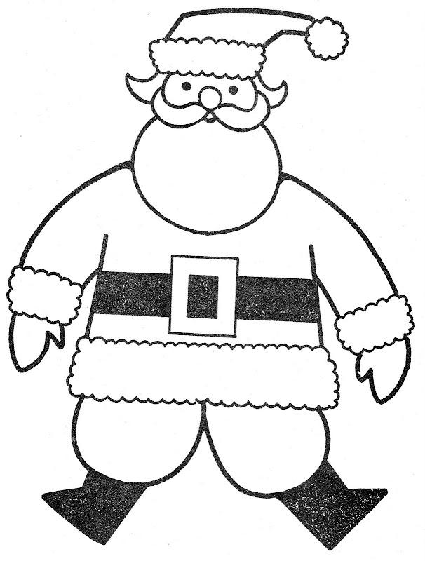 Santa para colorear
