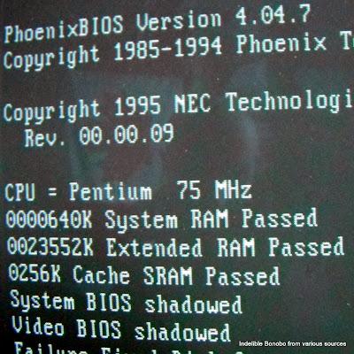 Pentium 75 MHZ Phoenix BIOS bootup