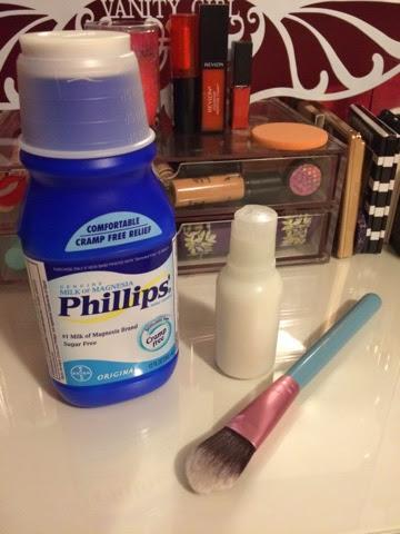 Milk of magnesia makeup
