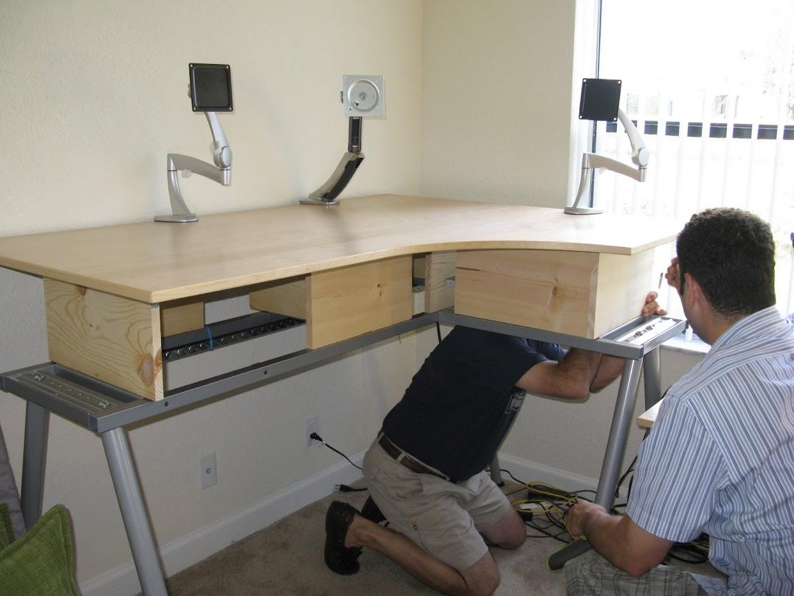 The $43 Ikea Galant Standing Desk Mod