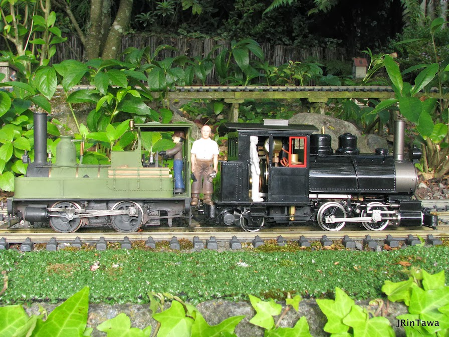 Plantation pictured with my Dub's A.  A small loco modelled at 1:24 scale