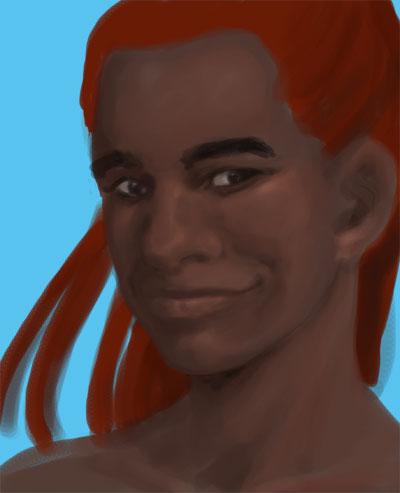 Portrait schwarze Frau