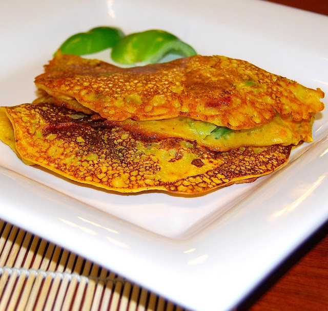 Besan Chilla, Eggless Vegetable Omelet, Vegan and Gluten-Free Recipe