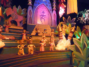 Disneyland Christmas holiday decorations It's a Small World